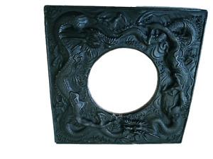 """Dragon Gargoyle Framed Mirror 7 1/2"""" by 7 1/2"""""""