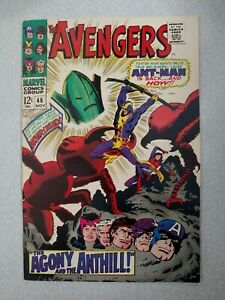 AVENGERS #46 VF/NM SILVER AGE, 1st app WHIRLWIND WANDA, QUICKSILVER!