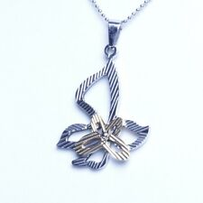 Gold Silver Stainless Steel Butterfly Pendant With Necklace Sp79 USA Seller