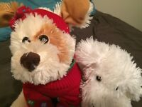 """12"""" 2009 Red Sweater Puppy Dog Plush Mary Meyer w/Sweet Rascals Puppy Lot of 2"""