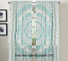 Indian Bohemian Mandala Panel set Curtain Window Treatment Boho sheer Curtains