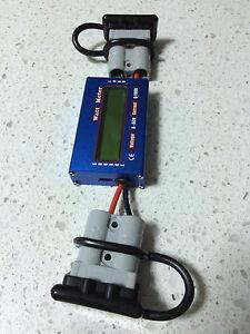 Anderson Plug Compatible 12V Battery Monitor/Watt Meter  4x4 Solar Camping