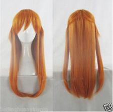 Neon Genesis Evangelion Soryu Asuka Langley Long Orange Cosplay Party Wig