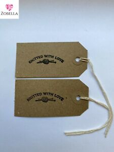 Knitted With Love Tags Vintage Design Various Sizes Packs of 50 #Free P&P#
