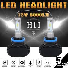 H11 LED Headlight Bulbs Kit Hi/Lo Beam Fanless Lights H9 H8 50W 6000K White