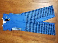 ADIDAS ADIZERO Mens M Sleeveless Track Sprint Running Speedsuit Skinsuit Blue