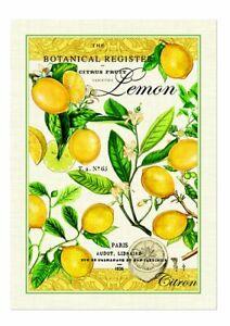 "Michel Design Works, ""Lemon Basil"", Pure cotton printed tea towel."