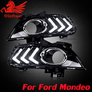 DRL FOR FORD FUSION MONDEO 2013 - 2015 LED DAYTIME RUNNING LIGHT FOG LAMP W TURN