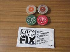 Dylon Dye in Aluminium Tubs x 4 Pots and 1 x Dylon Dye Fix Sachet, Tie Dye