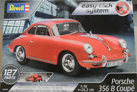 PORSCHE 356 B COUPE REVELL 1:16 SCALE EASY-CLICK SYSTEM PLASTIC MODEL CAR KIT