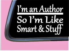 "Author Smart Stuff TP 321 Sticker 8"" Decal writer writing book manuscript"