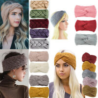 US Women Knitted Headband Crochet Winter Warmer Lady Hairband Hair Band Headwrap