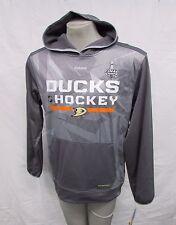 Anaheim Ducks Men L Pullover Center Ice Play DRY Hoodie NHL Reebok