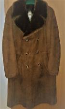 Fellmantel Ledermantel Mantel Herren braun sehr guter Zustand Gr 52 112 cm lang