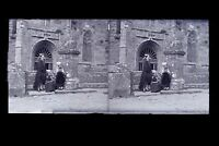 Francia Bretagna ? Foto Amateur Placca Da Lente Stereo Negativo Verso 1925
