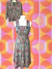 Vintage 1960s 3 Piece Pinafore Dress~Bodice~Tunic UK10 Peter Robinson London