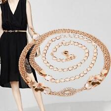 2017 Womens Bling Metal Chain Hip Waist Belt Dress Decor Rhinestone Waist Belts