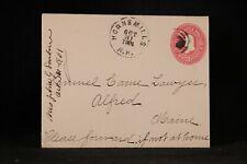 New Hampshire: Horns Mills (#2) 1901 2c Entire Cover, DPO Carroll CO