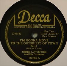 Jimmie Lunceford I'm Gonna Move to the Outskirts of Town 78 Swing Jazz Grissom