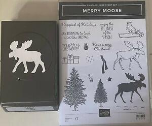 Stampin Up Merry Moose Stamp Set with Moose Punch Bundle