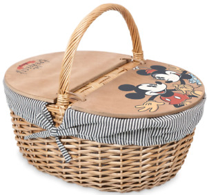 Authentic Disney Mickey and Minnie Country Picnic Basket by Picnic Time NEW