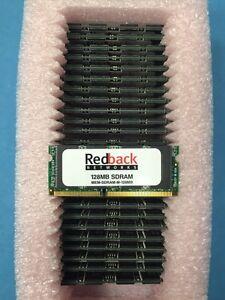 Lot of 26 NEW Redback 128MB SDRAM SODIMM Single Bank 170-0135 AMS16V64E8S4GHS