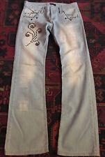 Dsquared Lightblue denim western jeweled bootcut  jeans SZ 30