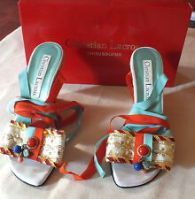 Christian Lacroix Chaussures Ladies Summer Shoes Sz. 38 in Box