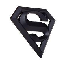 "Superman 3D Matte Black Auto Emblem - (4.2"" x 3"") - Decal For Cars Trucks SUVs"