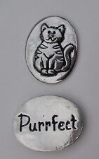 zzs Purrfect kitty cat lover spirit Pewter Pocket Token Charm basic coin