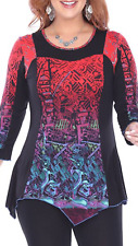 NEW NWT Parsley & Sage Plus Harper Fancy Top Tunic Blouse Fall Winter 1X