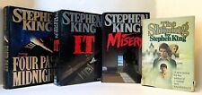 LOT BOOK STEPHEN KING~IT MISERY THE SHINING FOUR PAST MIDNIGHT HC DJ~1st EDITION