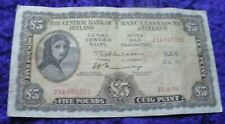 Ireland 1970 Lady Lavery Five Pound Banknote Old Vintage Irish £5 Note A Series