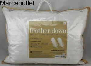 Charter Club 360 Chamber Feather Down Pillows STANDARD / QUEEN Medium Firm