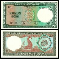South Vietnam, 20 dong, ND (1964), P-16, UNC /***