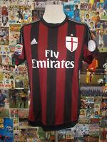 maglia calcio shirt maillot camiseta trikot MILAN DE JONG TG M 2015/16