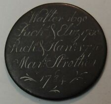 New listing Early 1784 Memorial Love token on Gb 1/2d size copper flan #334