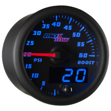 MaxTow 52mm Black Double Vision 60 PSI Diesel Boost Gauge - MT-BDV01_60