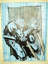 Canvas Painting Ninja Turtles Leonardo Spatter Blue Art 16x12 inch Acrylic