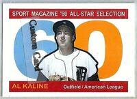 AL KALINE DETROIT TIGERS 1960 ALL STAR STYLE CUSTOM MADE BASEBALL CARD BLANK