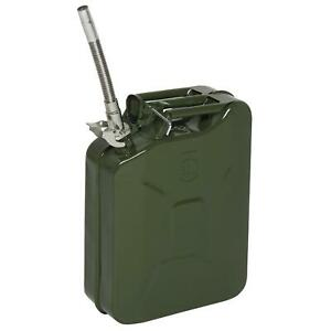 20L LITRE METAL JERRY CAN GREEN CAR STORAGE FUEL PETROL DIESEL CONTAINER