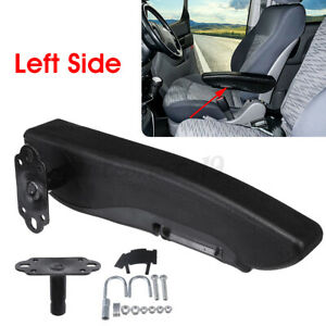 Universal 31cm Leather Left Side Adjustable Car Seat Armrest Console Box ArmRest