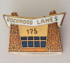Rockwood Lanes 175 Game Ten Pin Bowling Badge Vintage Tenpin Original (L39)