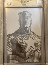 Captain America 23 CGC 9.8 signed by Alex Ross Timeless Sketch Variant