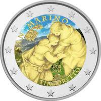 2 Euro Gedenkmünze San Marino 2018 coloriert / mit Farbe - Farbmünze Tintoretto
