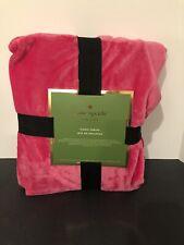KATE SPADE Hot Pink Fleece Throw Blanket 50x70 NEW NWT