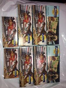 ATHEARN HO 1280 ATSF Santa Fe Lot Of 8 Look BOOM CAR SILVER Black