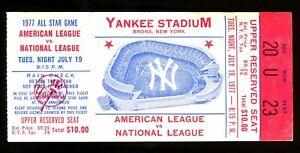 Baseball Ticket All Star Game New York Yankee Stadium 1977 Reggie Jackson
