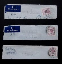 GB-1949-3 6d issues on Piece with Mauchline Postmark