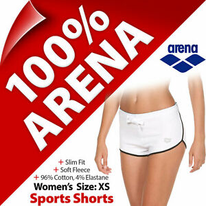 Arena Womens Stretchy Elastic Waist Sports Shorts for Running Gym Yoga UK XS